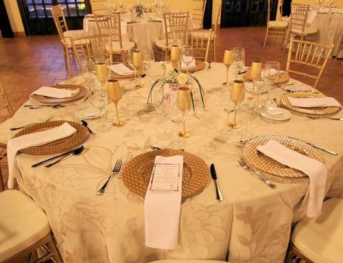 Banquete en la sala
