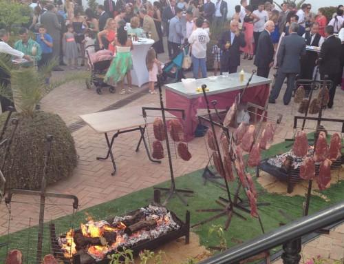 BBQ en el patio